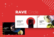 Free Rave Circle Presentation Template