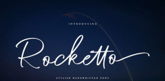 Free Rocketto Stylish Handwritten Font