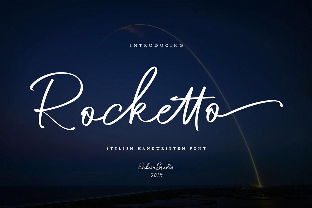 Free Rocketto Stylish Handwritten Font