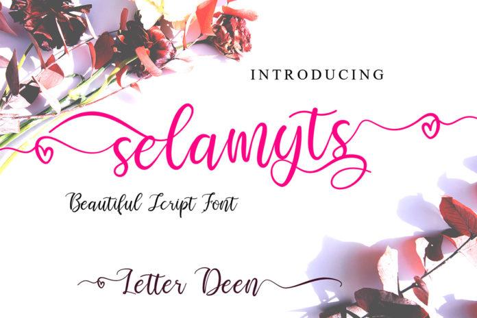 Free Selamyts Script Font