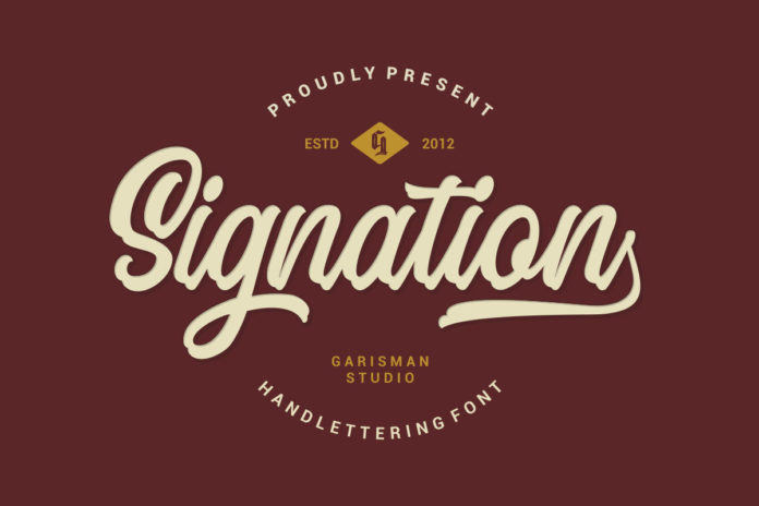 Free Signation Handlettering Font
