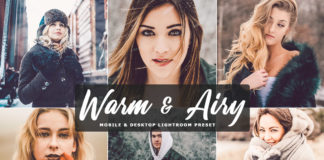 Free Warm & Airy Lightroom Preset