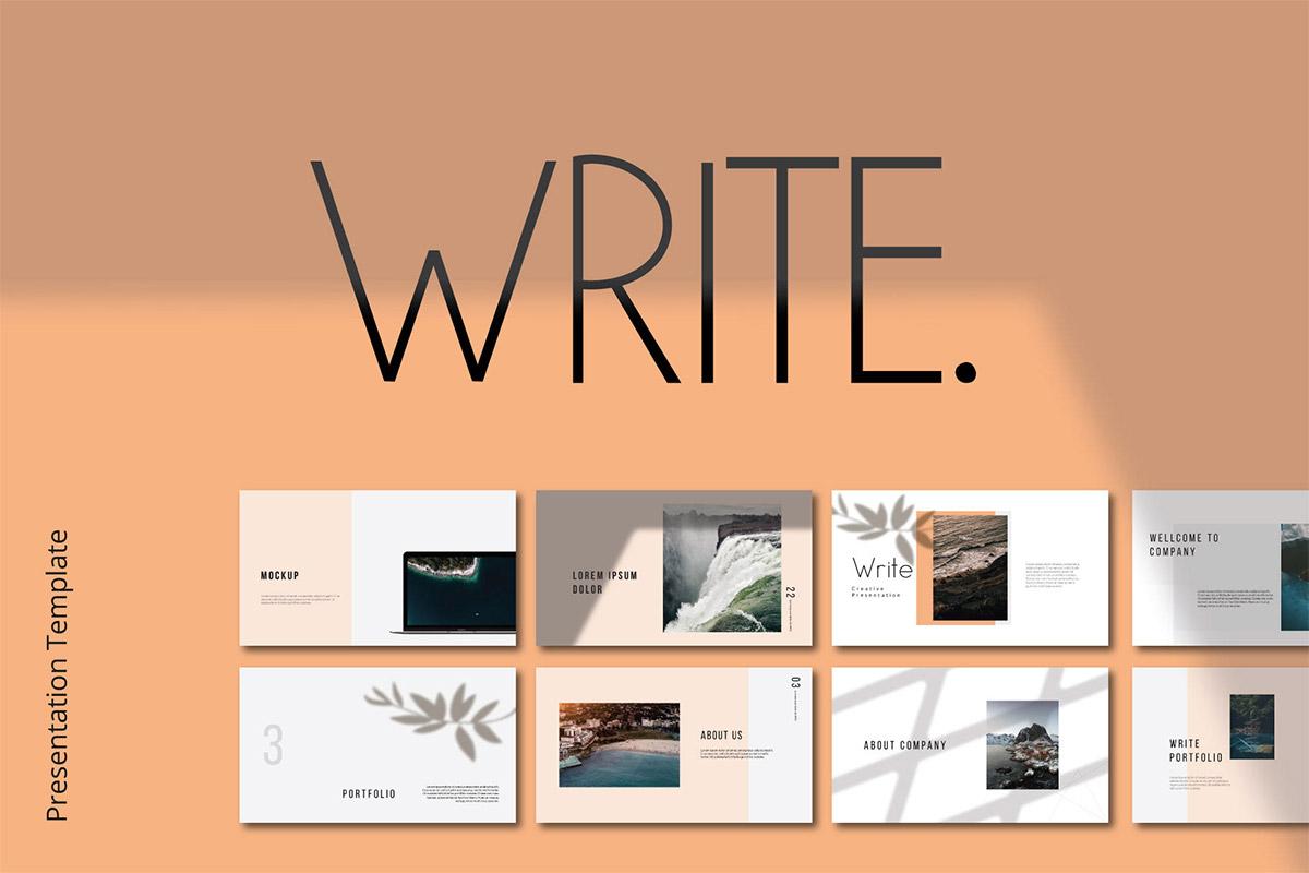 Free Write Presentation Template