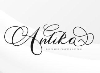 Free Antika Script Font