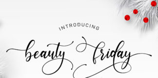 Free Beauty Friday Script Font