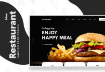 Free Dev Restaurant Web UIUX Design