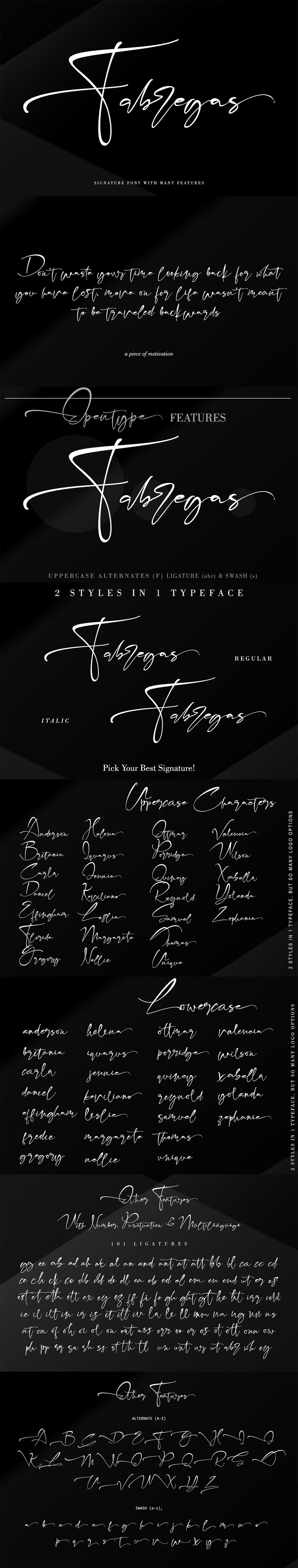 Free Fabregas Script Font