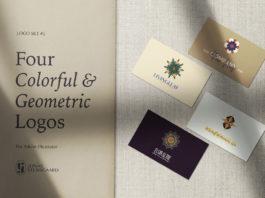 Free Four Colorful Geometric Logos
