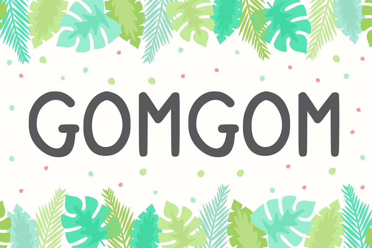 Free Gomgom Display Font
