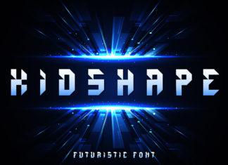 Free Kidshape Futuristic Display Font