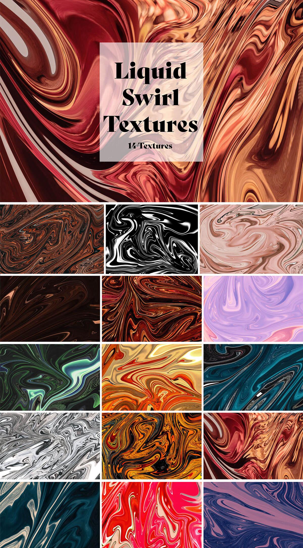 Free Liquid Swirl Textures
