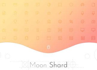 Free Moon Shard Icon Set