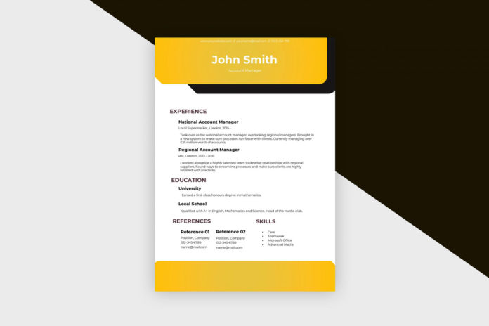 Free Resume Account Manager II Template