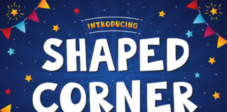 Free Shaped Corner Display Font