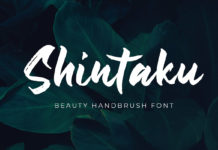 Free Shintaku Handbrush Font