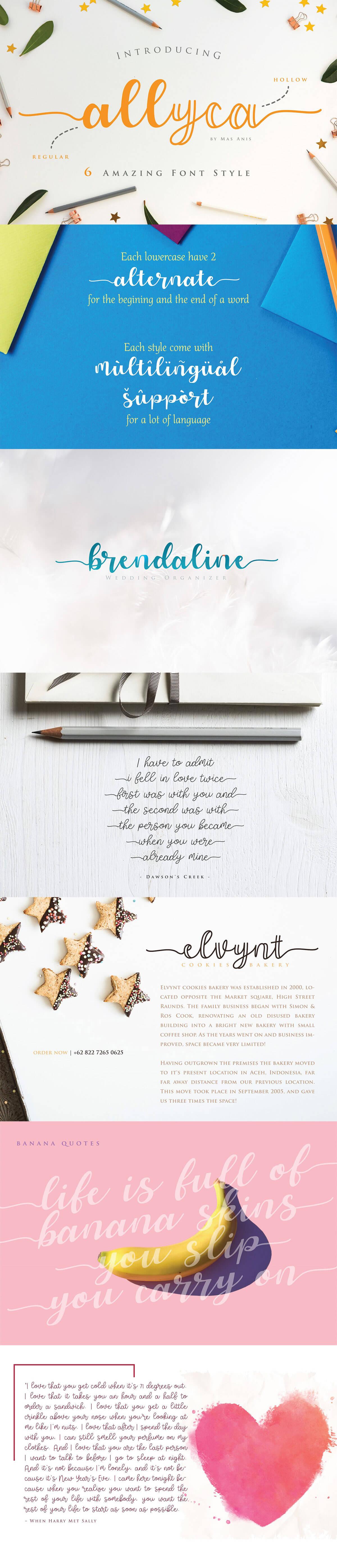 Free Allyca Script Font