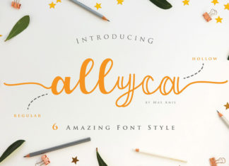 Free Allyca Script Font Family