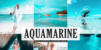 Free Aquamarine Lightroom Preset