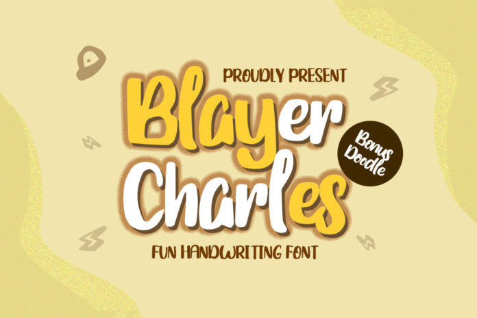 Free Blayer Charles Handwriting Font