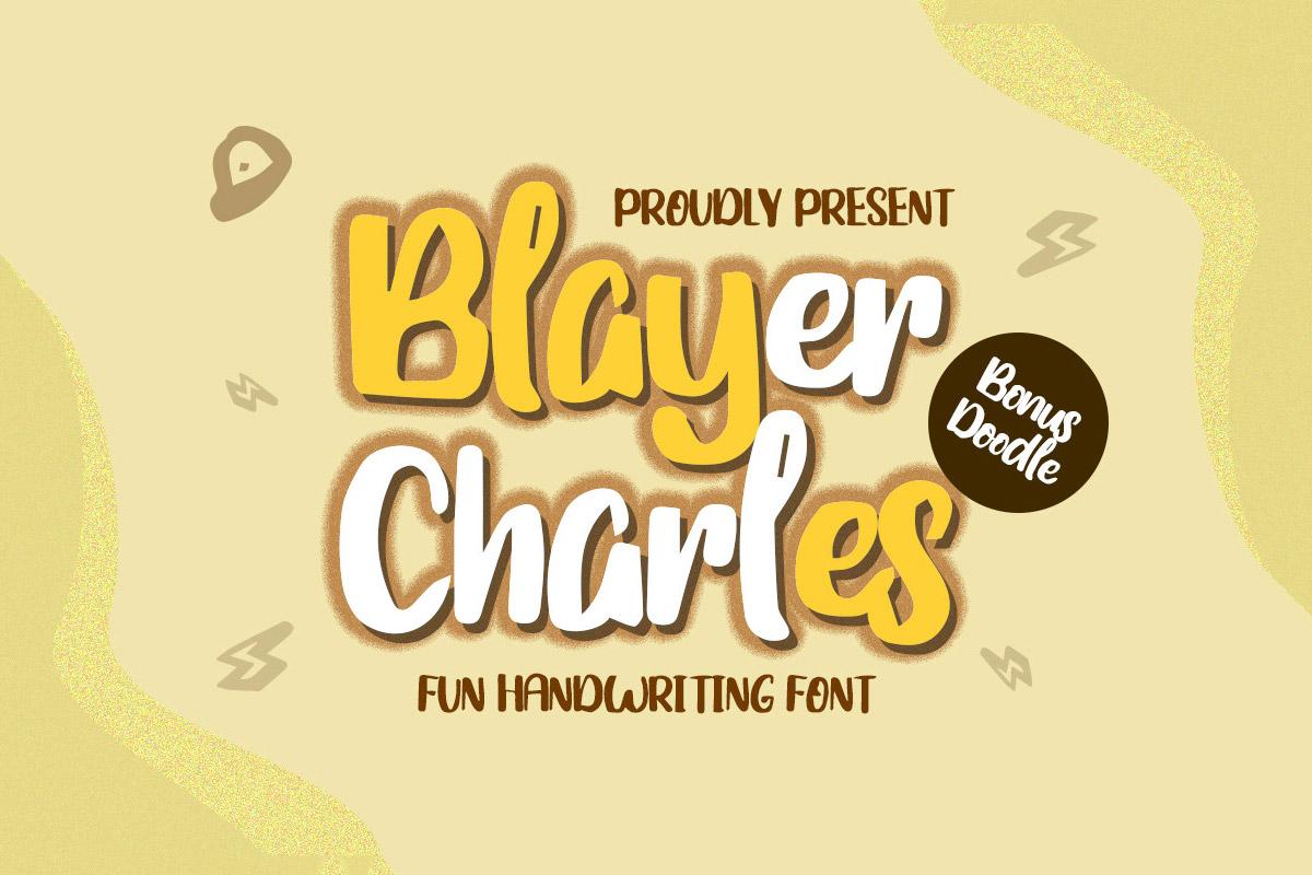 Free Blayer Charles Handwriting Font