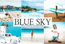 Free Blue Sky Lightroom Preset