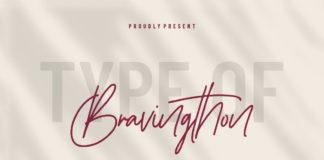 Free Bravingthon Signature Font