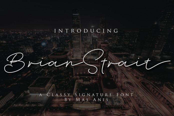 Free Brian Strait Signature Font