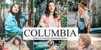 Free Columbia Lightroom Preset