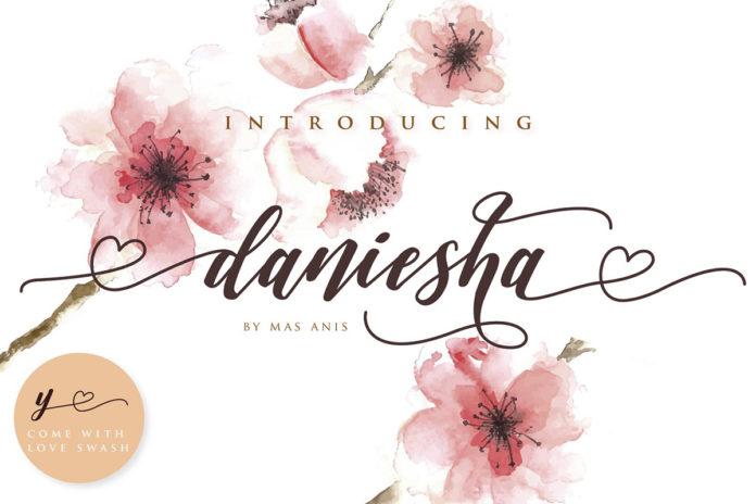 Free Daniesha Script Font