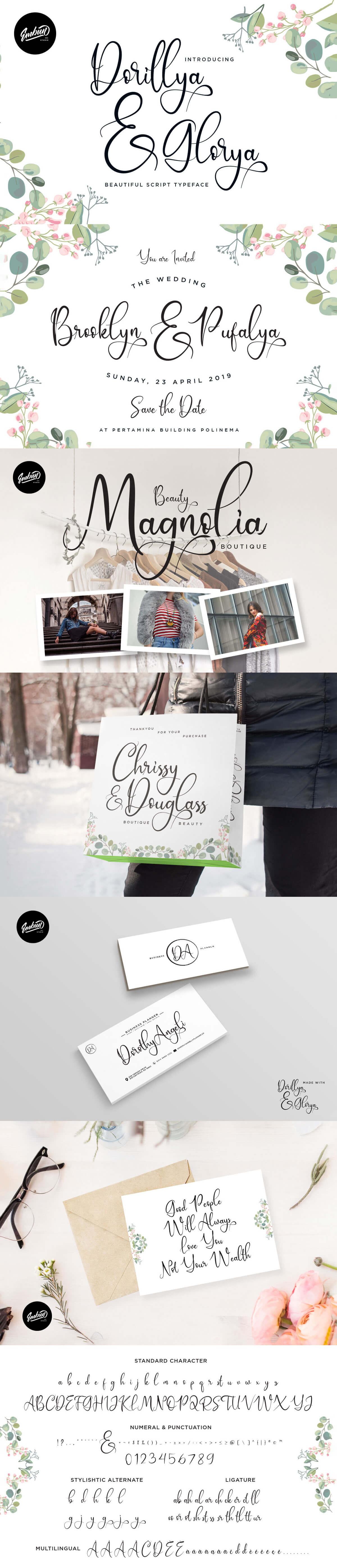 Free Dorillya & Glorya Calligraphy Font