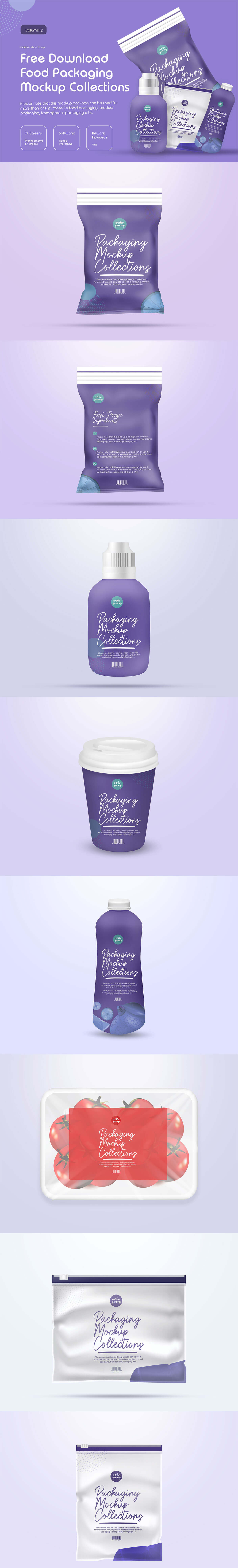 Free Food Packaging Mockup Collection V2