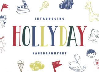 Free Hollyday Handdrawn Font