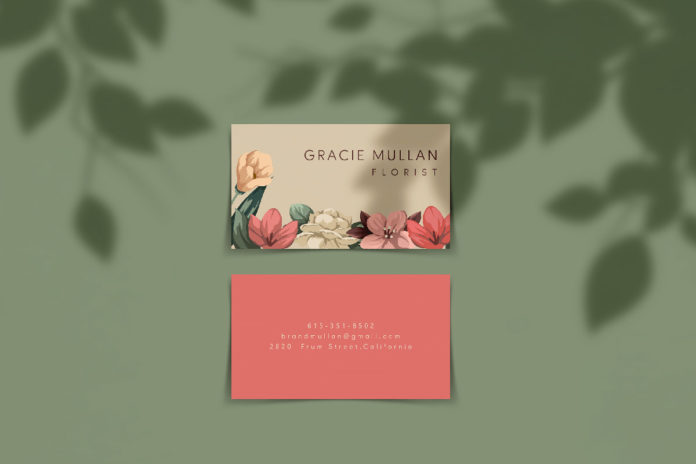 Free Horizontal Business Card Mockup