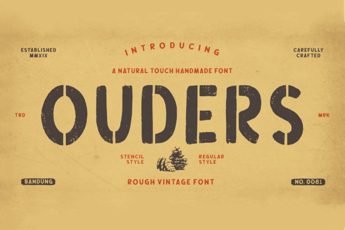 Free Ouders Stencil Font