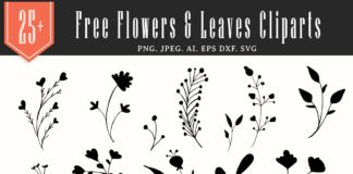 25+ Free Flowers & Leaves Handmade Cliparts