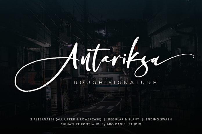 Free Antariksa Signature Font