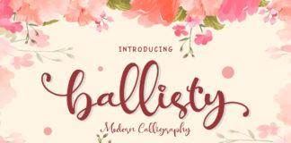 Free Ballisty Script Font
