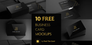 Free Black Business Card Mockups
