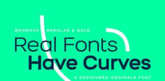 Free Bronova Sans Serif Font Family