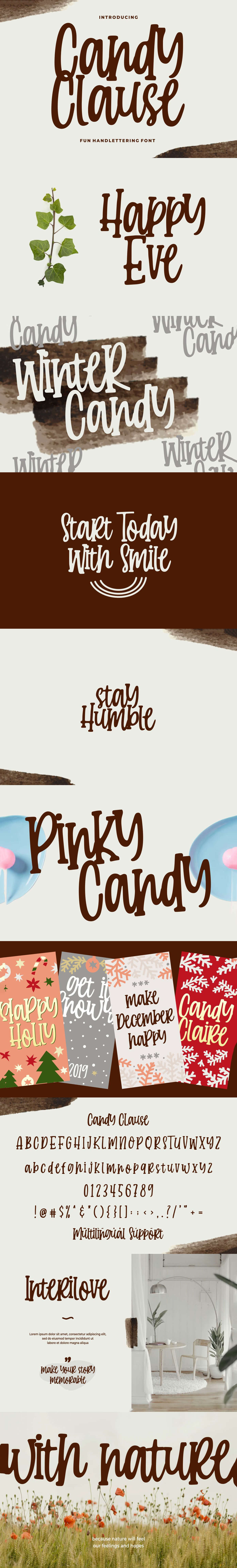 Free Candy Clause Handlettering Font