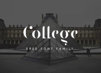 Free College Stencil Font