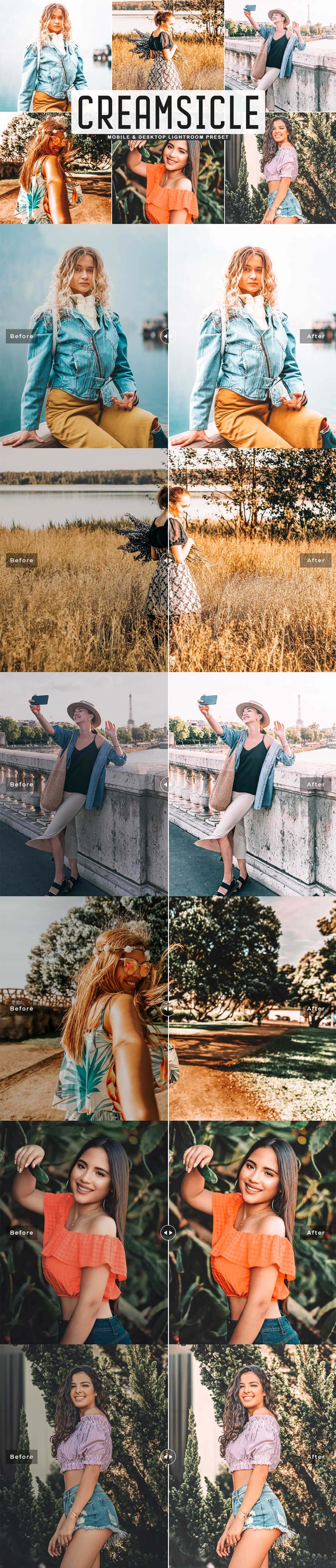 Free Creamsicle Lightroom Preset