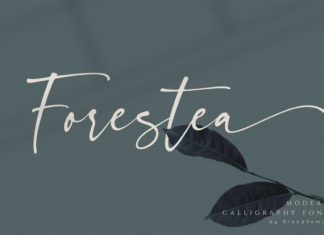 Free Forestea Calligraphy Font