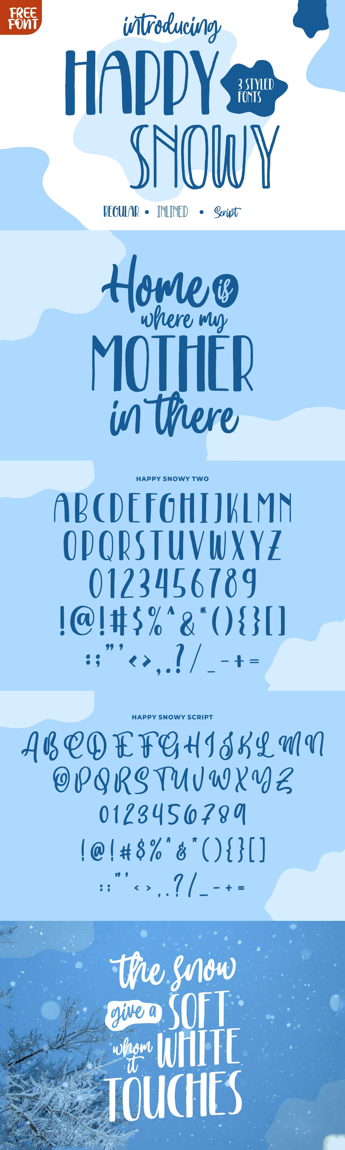 Free Happy Snowy Display Font Family