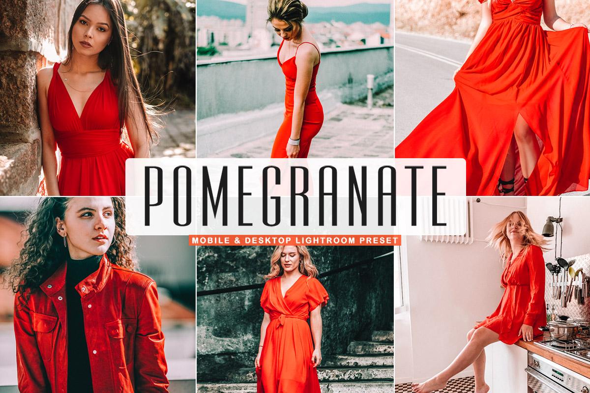 Free Pomegranate Lightroom Preset