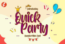 Free Quick Party Handwritten Font