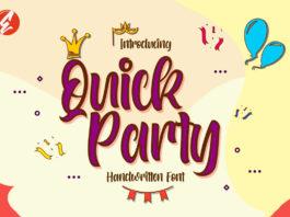 Free Quick Party Handwritten Font