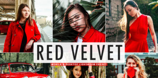 Free Red Velvet Lightroom Preset