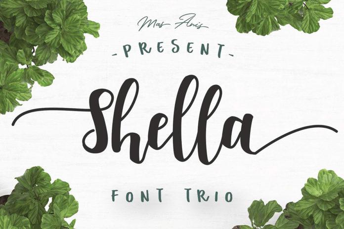 Free Shella Trio Font Family