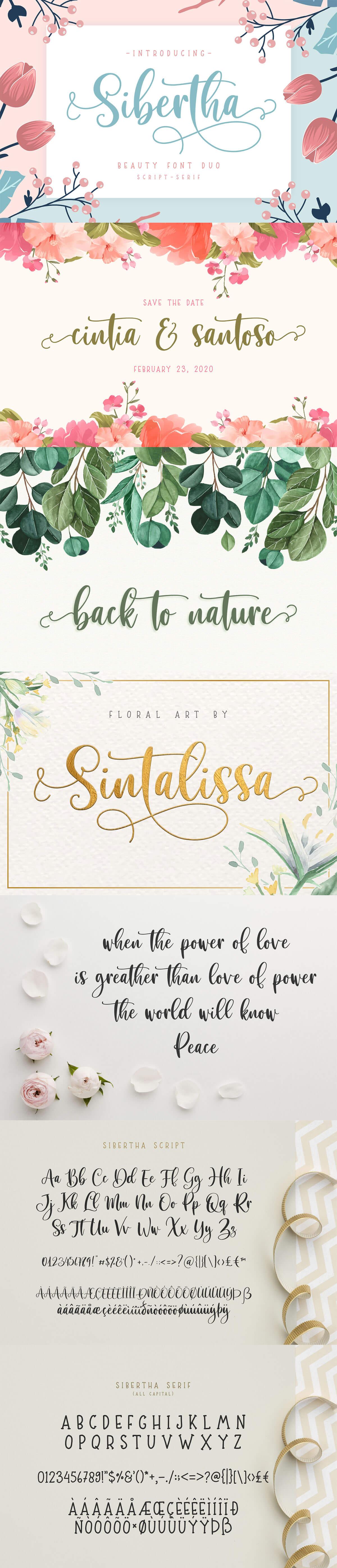 Free Sibertha Script Font